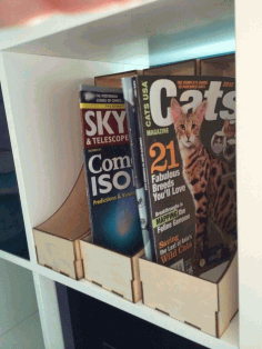 Laser Cut Magazine Holder 3mm Plywood Free DXF File