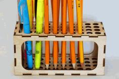 Office Desk Pen Ruler Pencil Holder 3mm Free DXF File