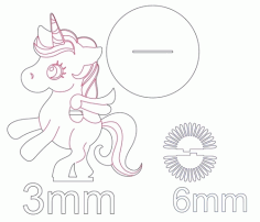 Laser Cut Unicorn Napkin Holder Free DXF File
