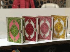 Laser Cut Decorative Wooden Book Box Free DXF File