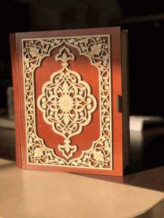 Decorative Wooden Book Box Free DXF File