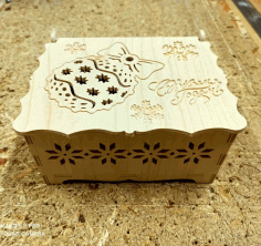 Laser Cut New Year Gift Box Christmas Eve Box Free DXF File