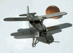 Laser Cut Wood Airplane Toy Kit Free DXF File