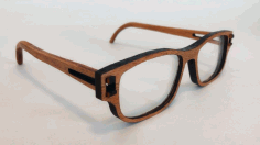 Laser Cut Wooden Glasses Free DXF File