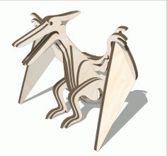 Laser Cut Wooden Pterodactyl Toy Free DXF File