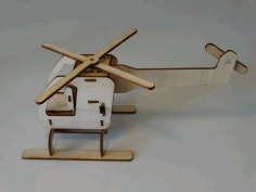 Wooden Motorized Helicopter 3mm Free DXF File