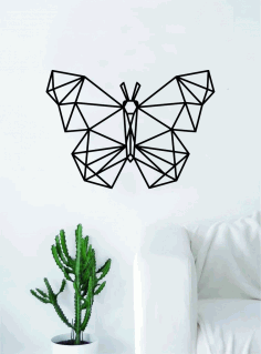 Laser Cut Geometric Butterfly Wall Art Free DXF File
