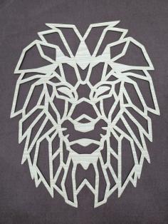 Laser Cut Lion Polygon Art Wall Decor Wall Art Decor 3d Sculpture Free DXF File