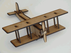 Laser Cut Double Wing Airplane 3mm Free DXF File
