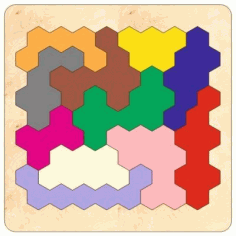 3d Wooden Tangram Puzzles Jigsaw Board Game Toys Laser Cutting Template Free CDR Vectors Art