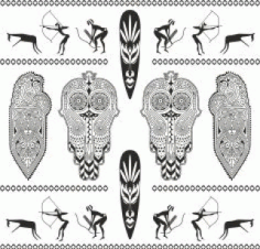 Africa Totem Vector Set Free CDR Vectors Art