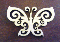 Laser Cut Butterfly Shape Plywood Free CDR Vectors Art
