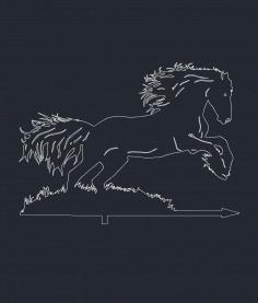 Horse Weathervane Free DXF File