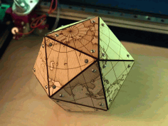 Laser Cut Dymaxion Map Free DXF File