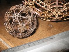 Laser Cut Eiffel Style Sphere 3mm Free DXF File