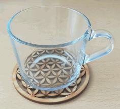 Laser Cut Flower Of Life Coaster Hot Pot Pad Free DXF File