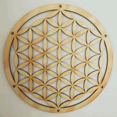 Laser Cut Flower Of Life Wallplate 40cm Free DXF File