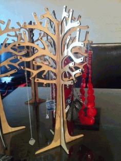Laser Cut Jewelry Tree Free DXF File