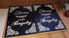 Laser Cut Leather Menu Cover For Restaurant Free DXF File
