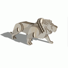 Laser Cut Lion 3d Puzzle Free DXF File