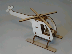 Laser Cut Motorized Helicopter 3mm Free DXF File