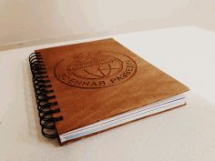 Laser Cut Notebook Free DXF File