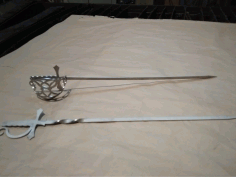 Laser Cut Sabre Skewer Sword Free DXF File