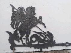 Laser Cut Saint George The Victorious Weathervane Free DXF File