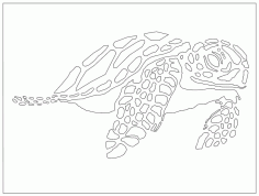 Laser Cut Sea Turtle Free DXF File