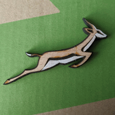 Laser Cut Springbok Pin Badge Free DXF File