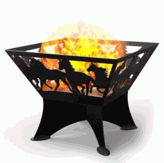 Portable Fire Pit Laser Cut Cnc Plasma Template Free DXF File