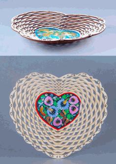 Laser Cut Flower Fruit Basket Candy Basket Free DXF File
