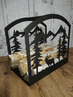 Firewood Storage Rack Log Holder Firewood Stand Laser Plasma Cut Template Free DXF File