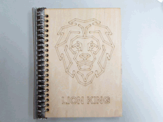 Laser Cut Wood Notebook Cover Free DXF File