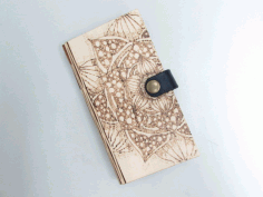 Laser Cut Wooden Phone Cover Free DXF File