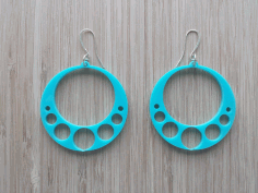 Laser Cut Acrylic Earrings Template Free DXF File