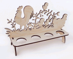 Laser Cut Easter Egg Stand Template Free DXF File