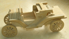 Laser Cut Ford Model T Car Free DXF File