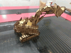 Laser Cut Hatachi Excavator 3d Model Template Free DXF File