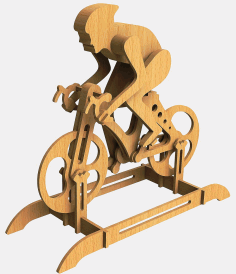 Laser Cut Racing Bike Racer Bicycle Free DXF File