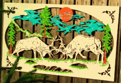 Laser Cut Scenery Wall Art Free DXF File