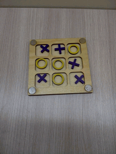 Laser Cut Tic Tac Toe Game Board Free DXF File