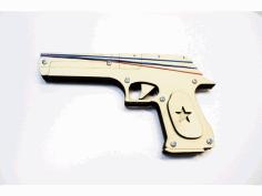 Cnc Rubber Band Gun Free DXF File
