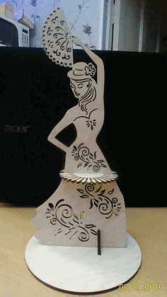 Dancing Lady Napkin Holder Free DXF File