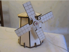 Laser Cut Windmill Template Free DXF File