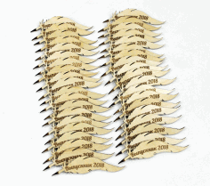 Laser Cut Feather Quill Pen Qalam Peacock Feather Pen Free CDR Vectors Art