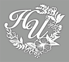 Laser Cut Floral Monogram Free CDR Vectors Art
