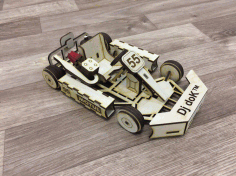 Laser Cut Go Kart Car 3mm Free CDR Vectors Art