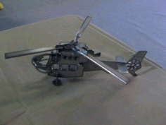 Laser Cut Helicopter 3d Model Free CDR Vectors Art