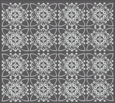 Laser Cut Repeating Geometric Decorative Pattern Free CDR Vectors Art